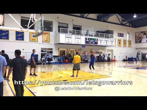 Stephen Curry shooting, FTs, dunk, walk-away shot, NEW SECRET HANDSHAKE with Coach Q (Bruce Fraser)