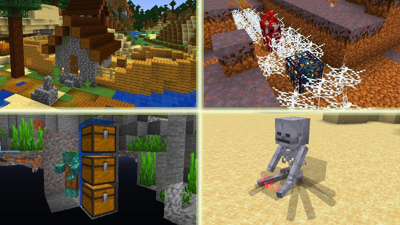 Mega RZADKIE Rzeczy w Minecraft! Statek z Domkiem! Kopalnia na Biomie  Grzybowym!