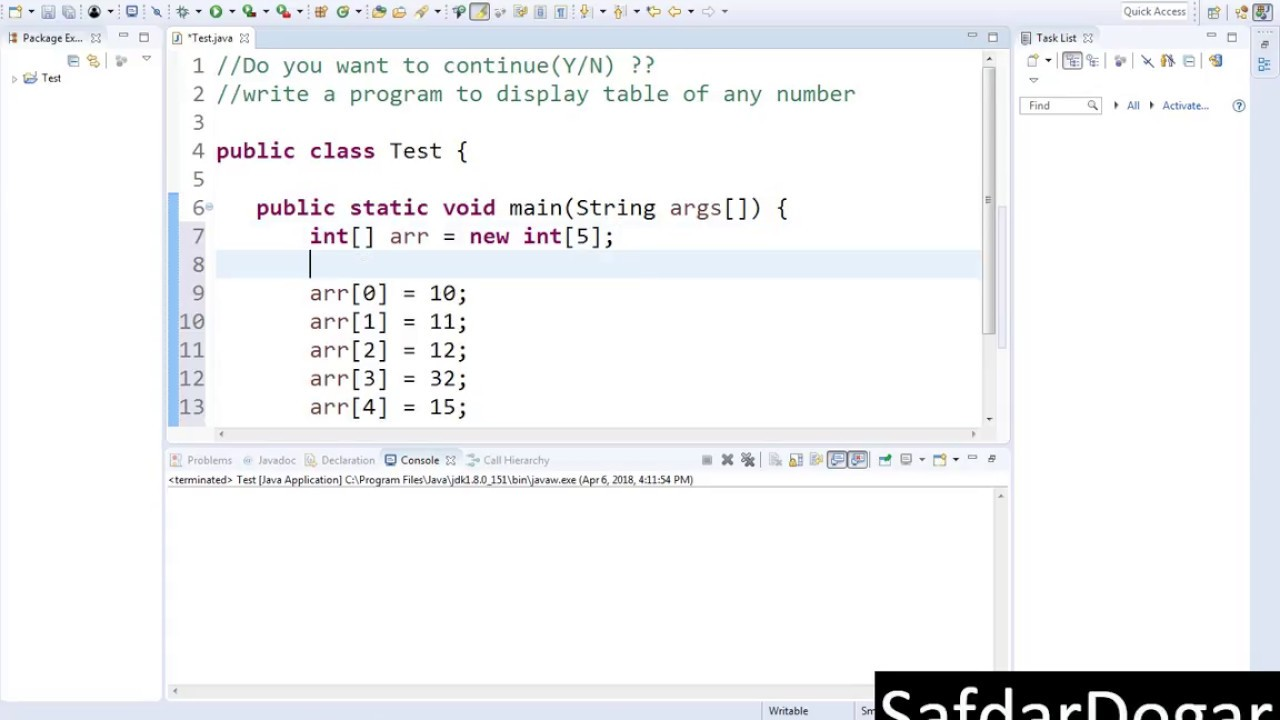 Java programming tutorial 24 introduction array in java step by java programming tutorial 24 introduction array in java step by step urduhindi baditri Choice Image