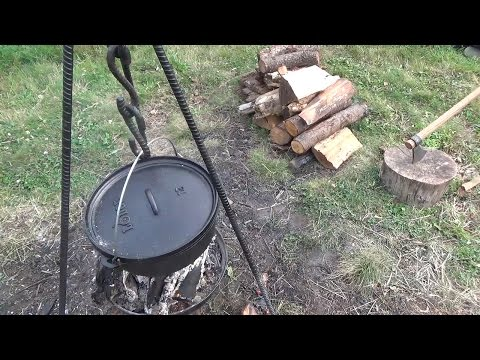 How to Forge a Fire Tripod for Camp Cooking and a Dutch Oven Lid Lifter