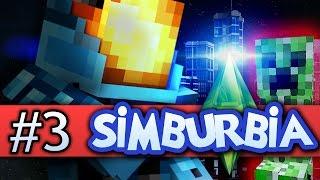 Minecraft Simburbia Let's Play #3 | GIANT CREEPER DISASTER! - Minecraft 1.8 (Sims, Sim City)