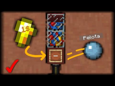 ¡Como Hacer Una Máquina de Pelotas Que Funciona En Minecraft PE 1.0! | Tutorial De RedStone!!