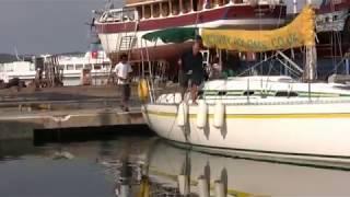 Croatia, Murter, Activity Yachting Training Video - Stern to parking.mpg