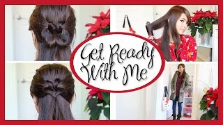 Get Ready With Me: Christmas! (Heart Knot Hairstyle & Outfit) Thumbnail