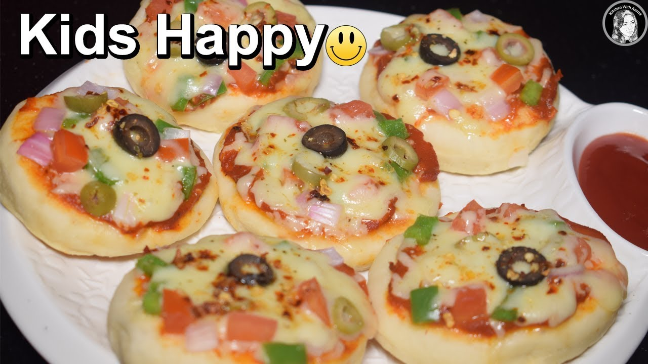 Mini Pizza On Tawa Without Oven Vegetable Mini Pizza For Kids
