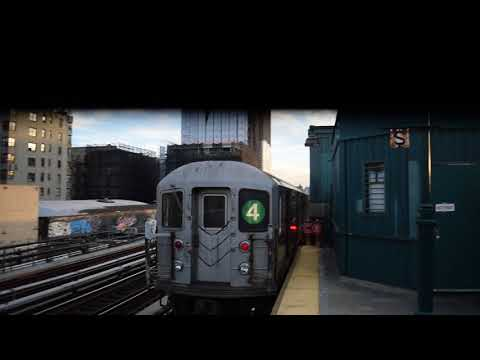 RARE! Manhattan-bound R62A (4) train leaving 161st Street-Yankee Stadium (IRT Jerome Avenue Line)