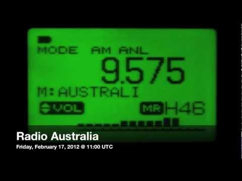 Radio Australia, shortwave DX @ 17411 km