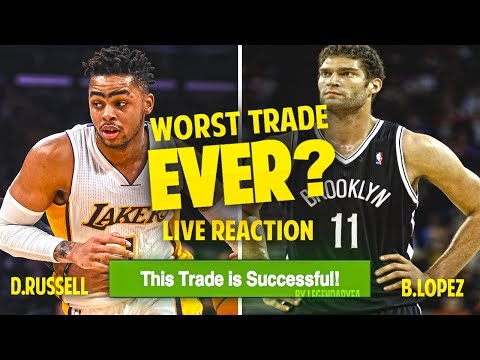 BREAKING NEWS!! D'ANGELO RUSSELL TRADED FOR BROOK LOPEZ LIVE REACTION