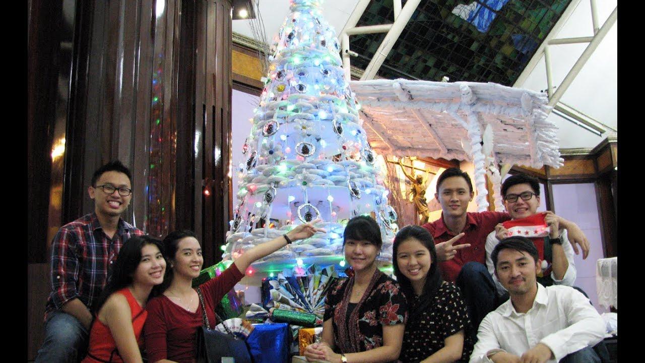 Dekorasi Natal Daur Ulang 2013 Paroki Santa Monika