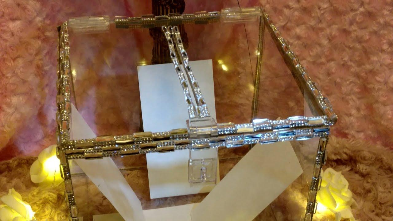 diy glam crystal wedding card box glam elegance youtube