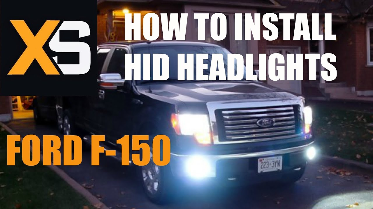 How To Install Hid Headlights Ford F 150 2004 2009 Youtube Wire Harness