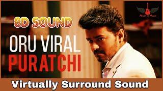Oru Viral Puratchi   8D Audio Song   Sarkar   Thalapathy Vijay   Tamil 8D Songs