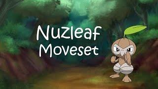 Nuzleaf Moveset