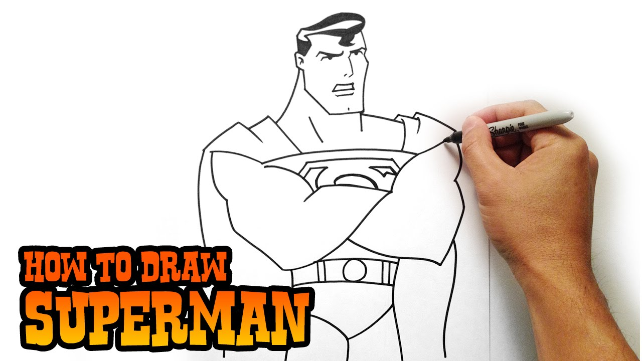 How to Draw Superman - YouTube