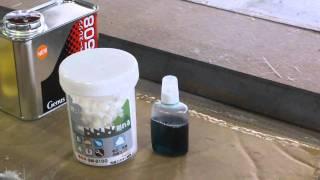 FRP凹凸・デコボコ表面処理、白パテGM-2100、どんぐりコロコロGM-1508 M...