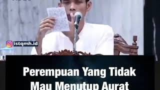 Ustadz Abdul Somad Lc Ma Ganjaran wanita yang tidak menutup Aurat