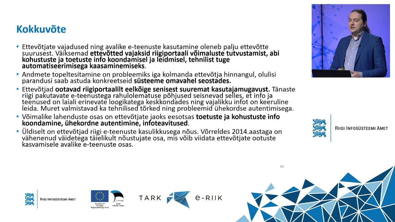RIA infopäev 2020 - eesti.ee kasutajate rahulolu-uuring, Raimo Reiman