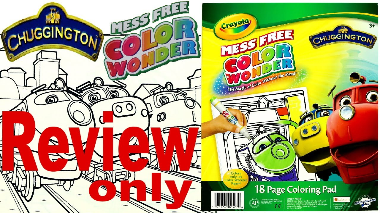Full Coloring Book Review - Chuggington - Crayola Color Wonder Mess Free  For Kids