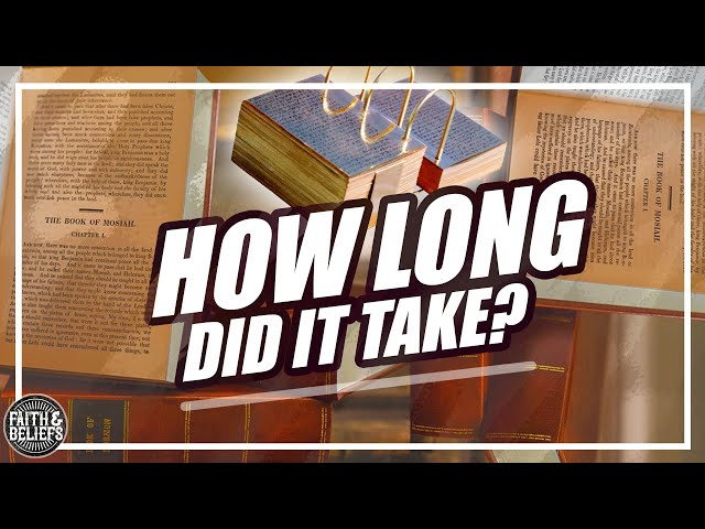 How long did it take Joseph Smith to translate the Book of Mormon?