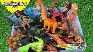 Dinosaur FIGHT in Box! Skyheart Toys dino battle surprise jurassic creatures kids trex