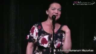 X Forum Humanum Mazurkas koncert-Bożena Sitek- wierszyki dla dzieci + piano - Hotel Mazurkas