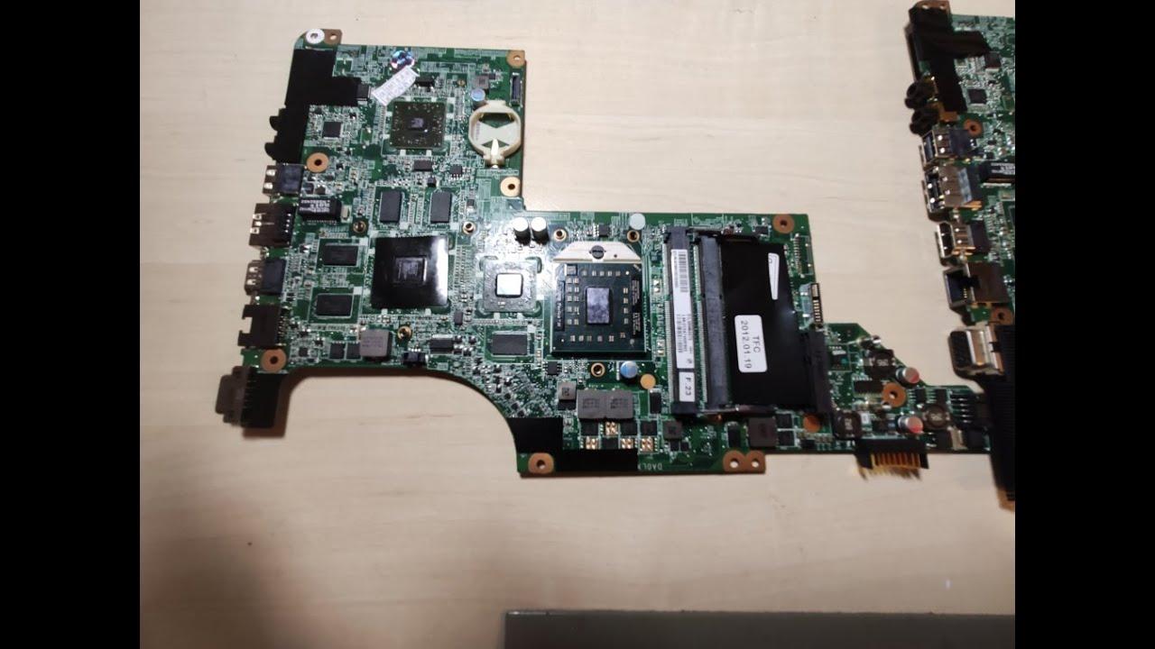 Распаковка и установка Материнской платы на ноутбук HP PAVILION DV6