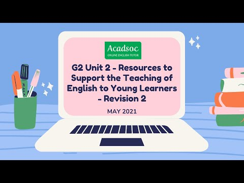 [UPDATED] TESOL ANSWER | G2 Unit 2 - Resources To Support The Teaching Of English To Young Learners