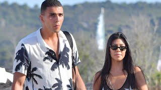 Kourtney Kardashian and New Man Younes Bendjima Continue Romantic Vacay in Coordinating Ensembles