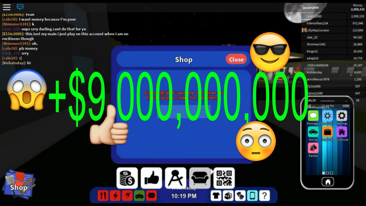 ROBLOX RoCitizens: ALL MONEY CODES!!!! [NEW!] [WORKING ...