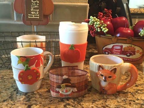 CUTE FALL DIY | Mug Warmers | DOLLAR TREE Mugs