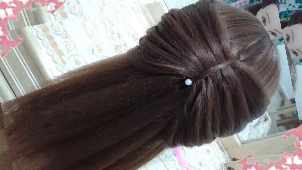 peinados recogidos faciles para cabello largo bonitos y rapidos con trenzas para niña para fiestas51 2017