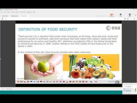Food Security Kick-start Activity - Webinar 11 May 2017