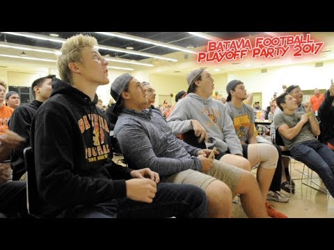 Batavia Bulldogs Football Playoff Party 2017