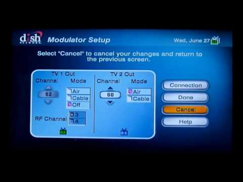 how to fix a fuzzy, blue, or black tv #2 dish network - youtube  youtube