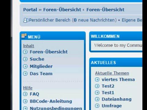 phpBB-Tutorial: Einbau eines Portals in 3.0.13PL1