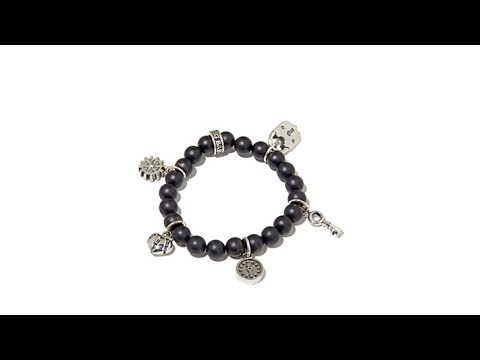King Baby Jewelry 5Charm Sterling Silver Bead Bracelet. https://pixlypro.com/wWSiQWN