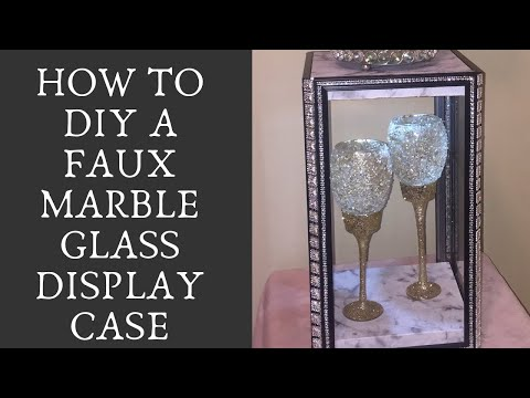 Glam Dollar Tree Glass Display Case with LED Light!
