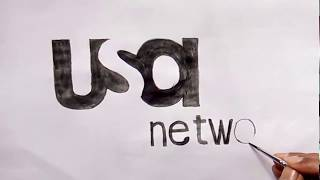 USA network TV channel logo drawing (how to draw the USA network channel logo)