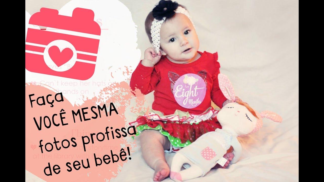 Muitas vezes Como fazer fotos EM CASA, de seu bebê, estilo estúdio! - YouTube YP75