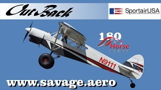 Savage Aircraft's, Savage Outback lightsport aircraft, 180 HP Titan, fuel injected aircraft engine.