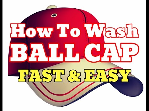 how to wash a baseball cap in the washing machine