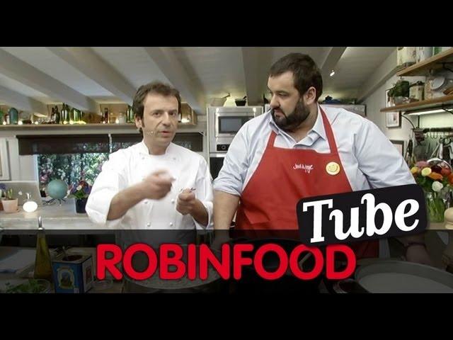 ROBINFOOD / Fabada asturiana + Arroz con leche + Pitu de caleya con ravioli de sus menudillos