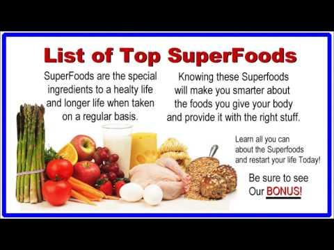 Superfood List - Top 30 SuperFoods - List of SuperFoods