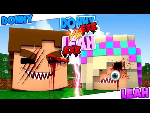 Minecraft - EVIL DONNY HOUSE VS EVIL LEAH HOUSE - WHICH ONE IS SCARIER??