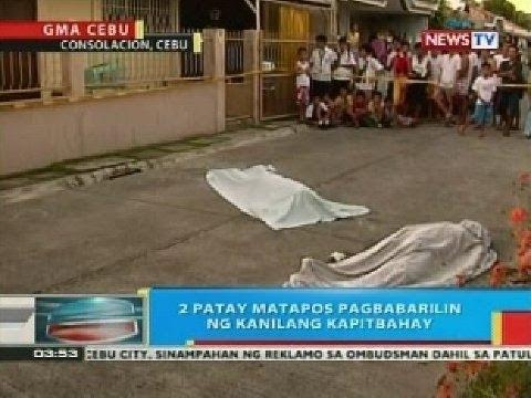 BP: 2 patay matapos pagbabarilin ng kanilang kapitbahay sa Consolacion, Cebu