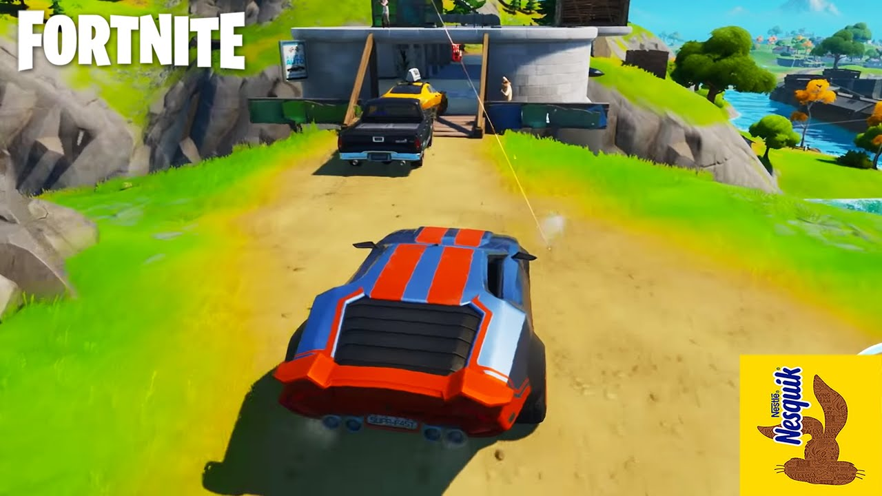*NEW* FORTNITE CARS ARE HERE! #Nesquik #Sponsored