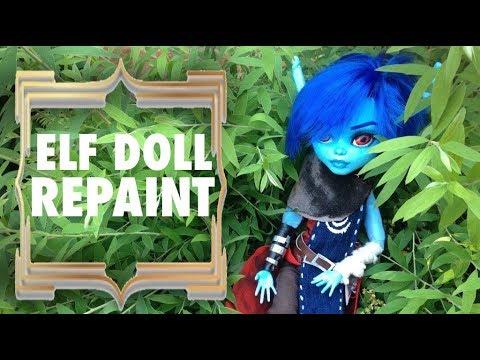 Custom Doll Repaint! Elf Warrior OOAK Monster High Frankie Stein Repaint Custom Doll!