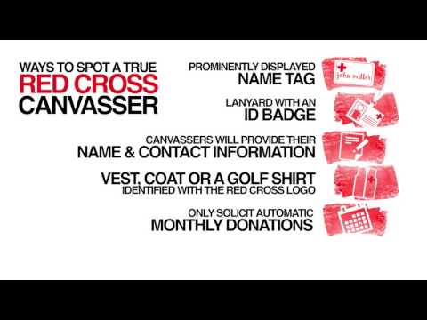 How the Red Cross uses canvassers to raise funds