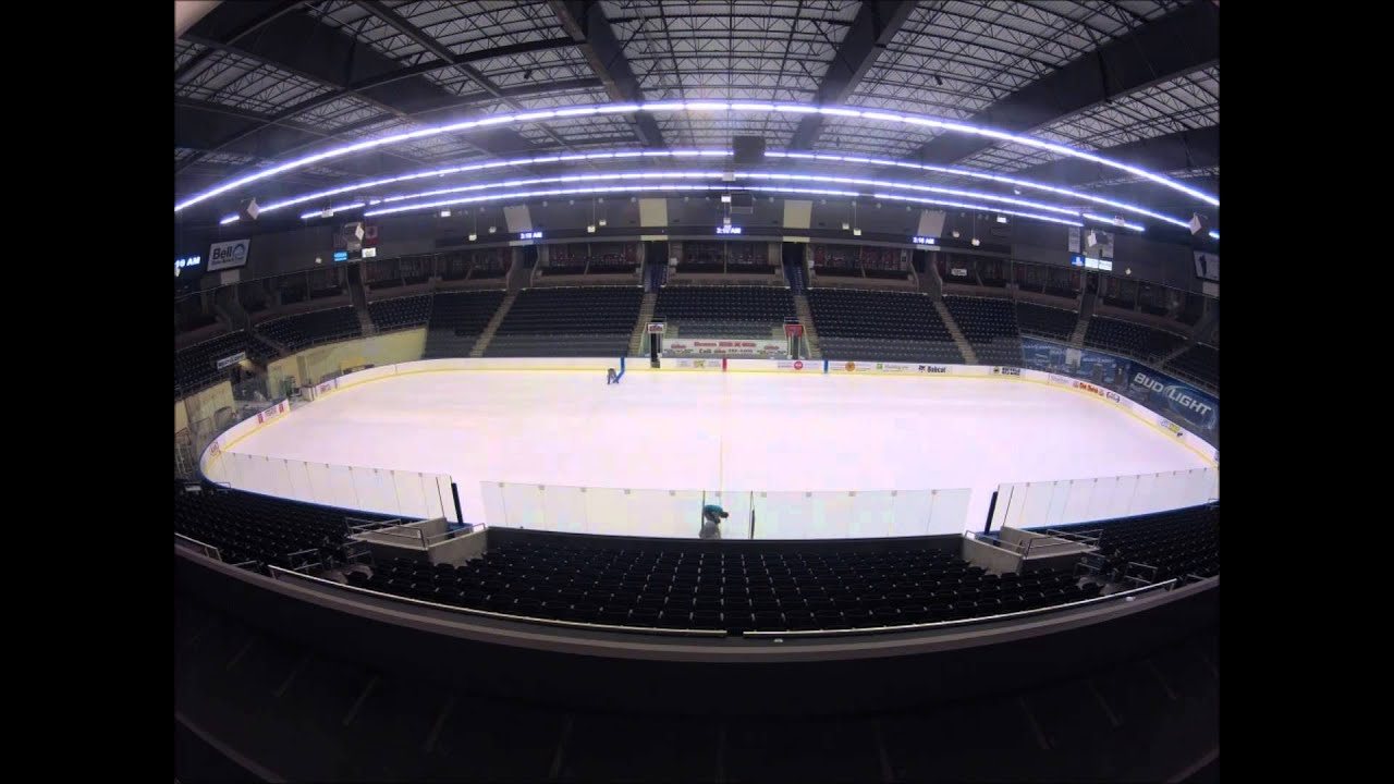 2013 Ice Timelapse At Scheels Arena Youtube