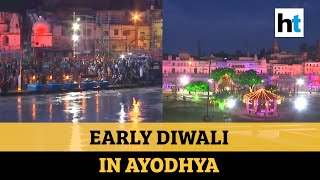 Watch: Ayodhya lit up ahead of Ram temple event; cops prep for 'VVIP visit'
